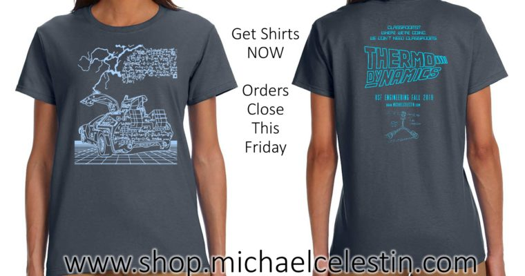 T-Shirts Now Available – Current Students ONLY